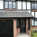 Black uPVC windows and doors
