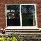 uPVC sliding patio door in white