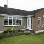 White upvc windows and a front door