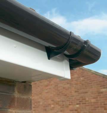 White uPVC fascia with guttering