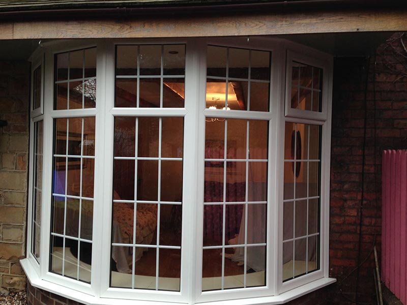 Double glazing windows doors conservatories gallery k for Bow window installation