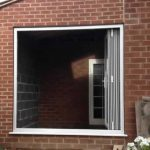Bi-fold doors fully open