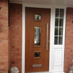 Genoa composite front door with textured glass