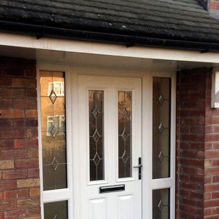 Classic composite white front door