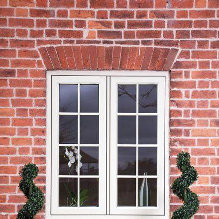 White timber effect windows