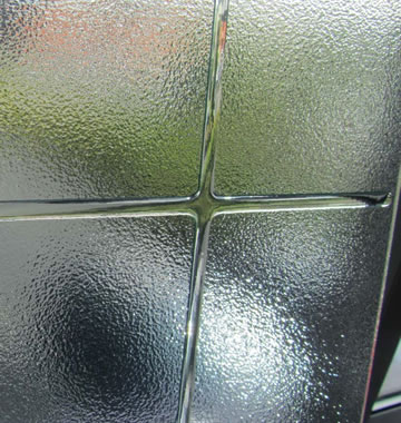 An example of our clear lite, efficient door glazing