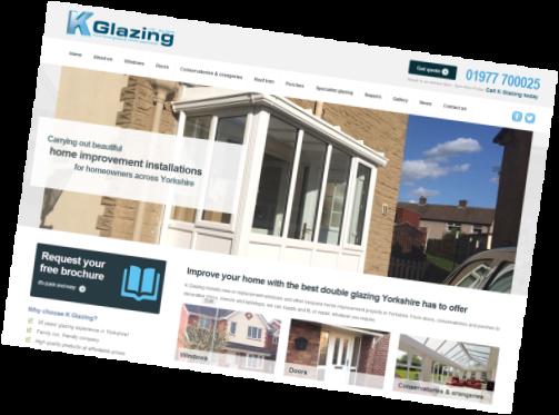 K Glazing website: new site built by Purplex Marketing for one of Yorkshire's best double glazing companies