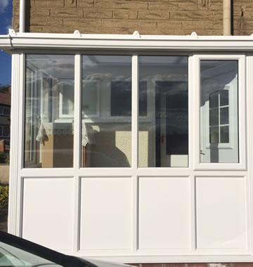 upvc porch with double glazed windows