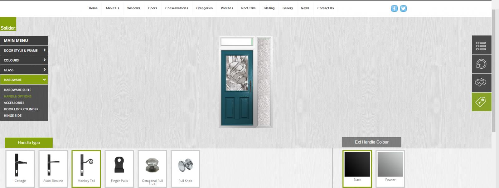 k glazing door builder
